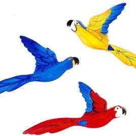Pássaro de Parede Decorativo
