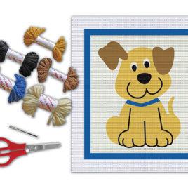 Bordado cachorro – Kit colagem