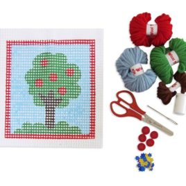 Bordado árvore – Kit colagem