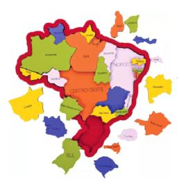 MAPA DO BRASIL EM MADEIRA